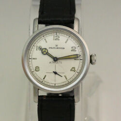 Rolex Athlete Oyster Ref 4127 Manual 32mm Stainless Steel Wristwatch Ca. 1940's