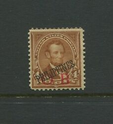 Philippines 220 Var Lincoln Red Bandholtz O.b. Official Business Rare Mint Stamp