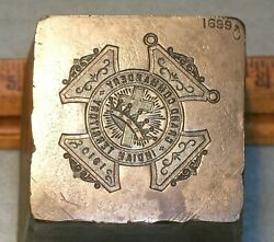 1910 Indian Territory Grand Commandery Knights Templar Badge Stamping Die Lilley