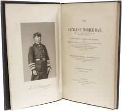 Foxhall A Parker - Battle Of Mobile Bay - First Edition 1878 - With The 2 Charts