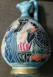 Hand Painted Vase Made In Greece