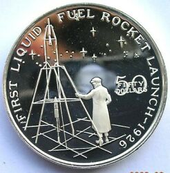 Marshall 1989 Fuel Rocket Launch 50 Dollars Silver Coinproof