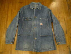 Coverall Denim Jacket 40's 50's Vintage old Heart Mark