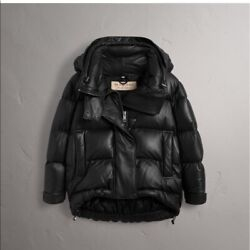 New W/ Tags Over 50 Off Genuine Lambskin Leather Puffer - Size S