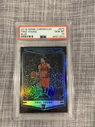 2018-2019 Trae Young Obsidian Prizm Preview Blue Psa 10 Rookie Rc /99 Rare Ssp