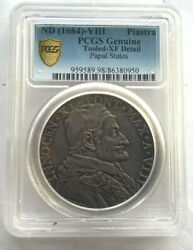 Papal States Vatican 1684 Max.a Viii Piastra Pcgs Silver Coinrare