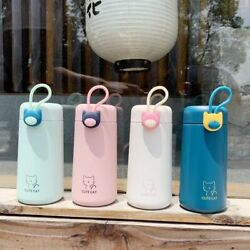Vacuum Stainless Steel Thermos Cup Cute Cat And Girl Design Portable Water Bottle