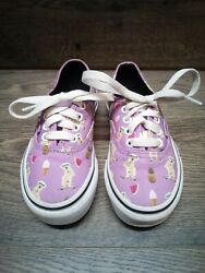 Vans quot;Off The Wallquot; Purple Skateboarding Dogs amp; Ice Cream Cones Size 11