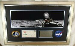 Apollo 14 Crew Signed Framed Display Shepard, Roosa And Mitchell Authenticated