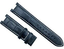 22mm Black Leather For Gc Guess Collection GC420005G Watch Strap Band 251GSC $29.00