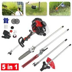 Multifunctional 5 In 1 52cc Petrol Hedge Trimmer Pole Saw Chainsaw Brush Cutter