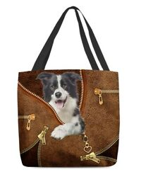 Border Collie Cool Tote Bag All Over Tote Personalized Bag For Mom Girl Ladies $18.95