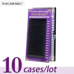 Nagaraku Mink Eyelash Extension 10cases Set High Quality Individual Lashes Cilia