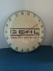 Vtg 1950s Gehl Agriculture Farm Equipment Advertising Thermometer Store Sign