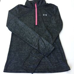 Under Armour Pullover Youth Large Girls Loose Fit Heatgear Gray NEW $15.00