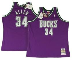 00-01 Ray Allen 34 Bucks 60 4xl Mens Mitchell And Ness Authentic Jersey 300