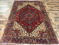 7and039x10and039 Fine 1950and039s Antique Serapi Estate Sale Oriental Authentic Vintage Rug