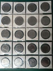 Canada Nickel Dollar And 50 Cent Piece Lot 108 Coins