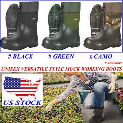 Hisea Unisex Waterproof Garden Boots Beathable Rain Muck Working And Hunting Boots