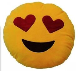 Emoji pillow Face with hearts eyes...