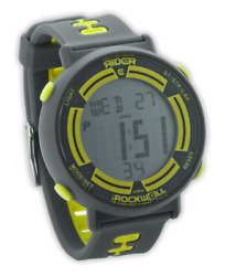 Rider By Rockwell Game Face Hrm Gray/yellow Watch Rgf-107