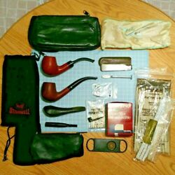 Vintage Smoking Pipe Set Rare Tobacco Briar Jensen Pipes Stanwell Knife Cutter