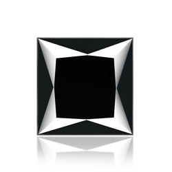 Black Diamond 1.040ct Glowing Luster Princess Cut 100 Natural Earth Mined