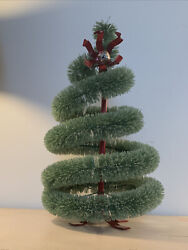 """16"""" Starbucks Store Display Bottle Brush Christmas Tree Excellent Condition"""