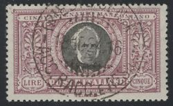 1923 Italy 170 Used Key High Value Very Fine W/aps Cert Scv 3950 Gd 12/1
