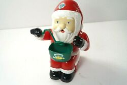 Vintage Animated Bubble Blowing Santa Blows Real Bubbles And Plays Music W/box