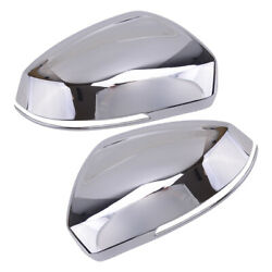 2x Silver Door Wing Rearview Mirror Cover Trim Fit For Vw Tiguan 18-20