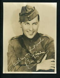 Ben Lyon 1920's Studio Press Publicity 6 X 8 Photo Named And Signed Marilyn Monroe