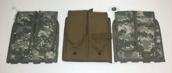 Lot Of 3 5ive Star Gear Molle Mag Carriers 2 Strap Dig. Camo 1 Hook/loop Coyote