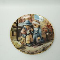 Lot 2 Tender Loving Care Mi Hummel And Apple Tree Boy And Girl And Collection Plate