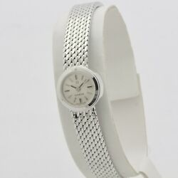 Omega Lady 60s 18 Kt White Gold Manual Cal. 640 Serviced