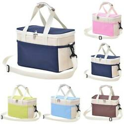 Insulated Thermal Cooler Lunch Box Portable Tote Picnic Storage Cross Bags Case $13.79