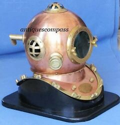 Mark Iv Germany Anchor Engineering 18 Divers Diving Helmet With Wooden Base