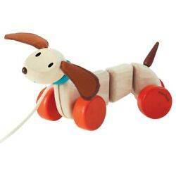 Happy Puppy Wooden Pull Toy 5101 By Plan Toys Ages 12 Month+
