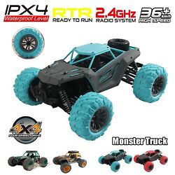 Remote Control Cars Off-road 4wd 36km/h Rc Car Truck Kids Christmas Xmas Gift Us