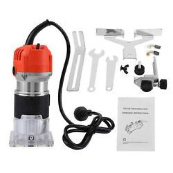 1/4and039and039 Electric Hand Trimmer Wood Laminate Palm Router Joiner Tool 800w 30000rpm