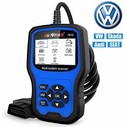 Car Code Reader For Vw Audi Skoda Seat All Series Enhanced Ap7610 Full-system...