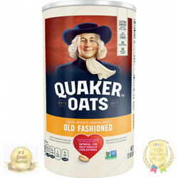 Quaker Oats, Old Fashioned Oatmeal, 42 Oz Canister 2 Pack