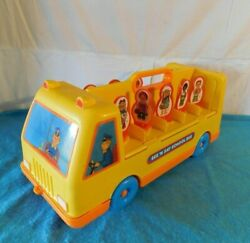 Vintage 1989 Mattel See Nand039 Say School Bus Count Sort Pull Toy Rolling On Floor