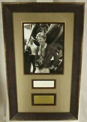 Amelia Earhart American Aviator Autograph Framed Display Beckett Authenticated