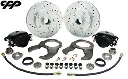1937-48 Early Ford Stock Spindle Disc Brake Conversion Kit 5 X 4.75 Bolt Pattern