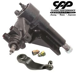 55 56 57 Chevy Belair Power Steering Gearbox Conversion + Pitman Arm + Adapters