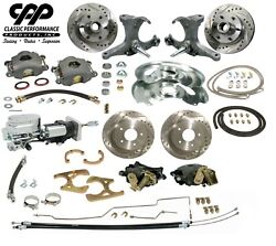 63-66 Chevy C10 Truck 12 Front 11 Rear Brake Kit Stock Spindle 5x5 Showstopper