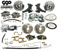 63 66 Chevy C10 Front And Rear Brake Kit Modular Drop Spindle 5 Lug Show Stopper