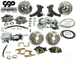 73 87 Chevy C10 Front And Rear Brake Kit Modular Drop Spindle 6 Lug Show Stopper