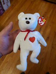 Valentino Red Bear Beanie Baby Brn Nose And Tag Errors